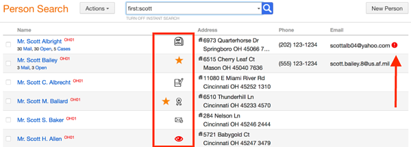 Find more information in your Fireside CRM Instant Search results!