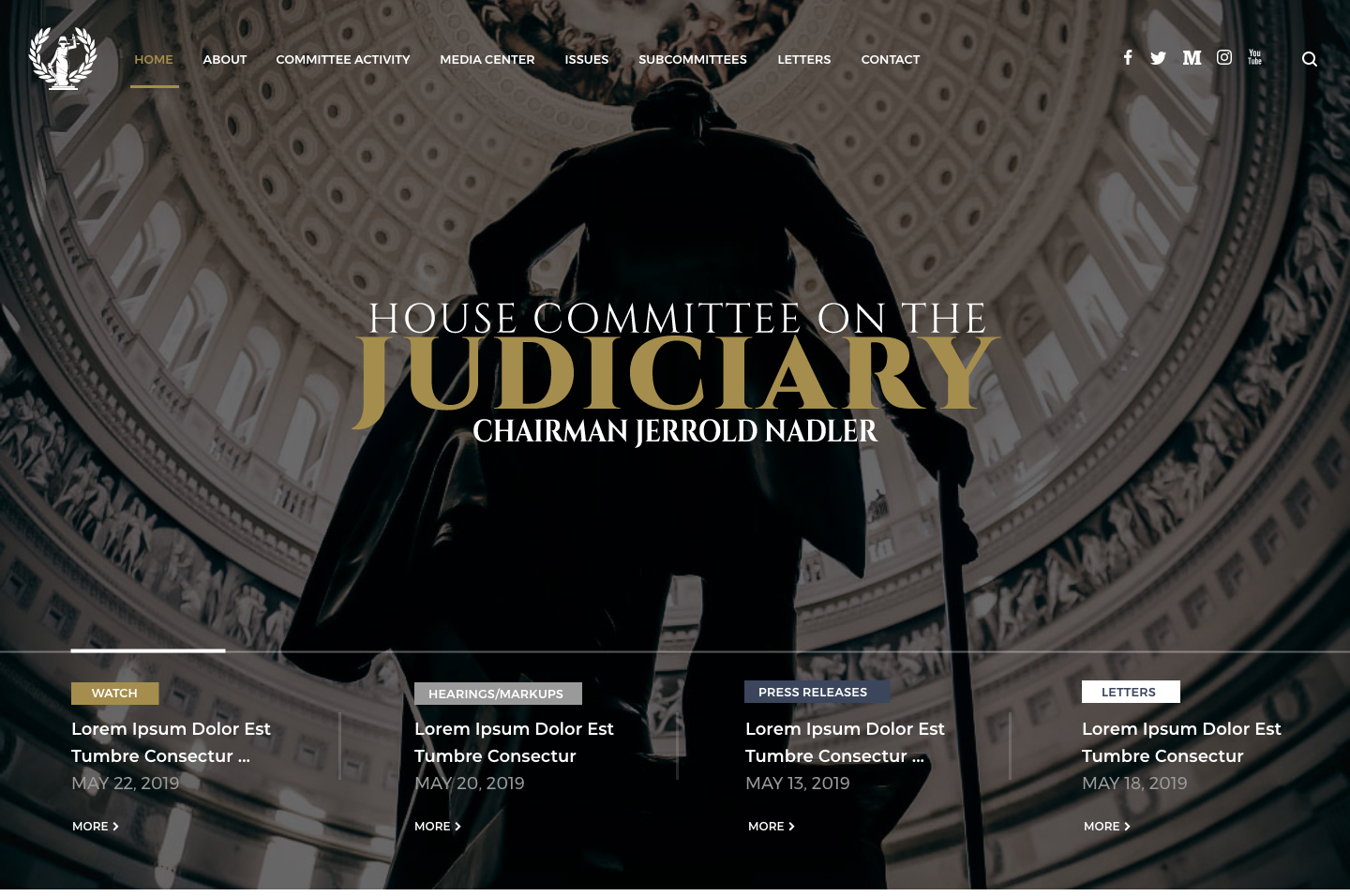 House Committee on the Judiciary<small>Homepage Design</small>