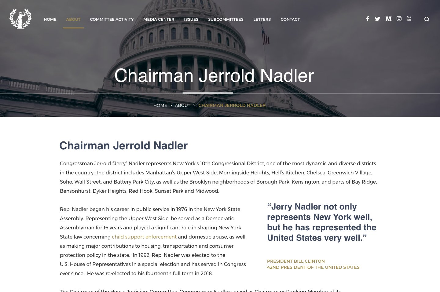 House Committee on the Judiciary<small>Internal Page Design</small>
