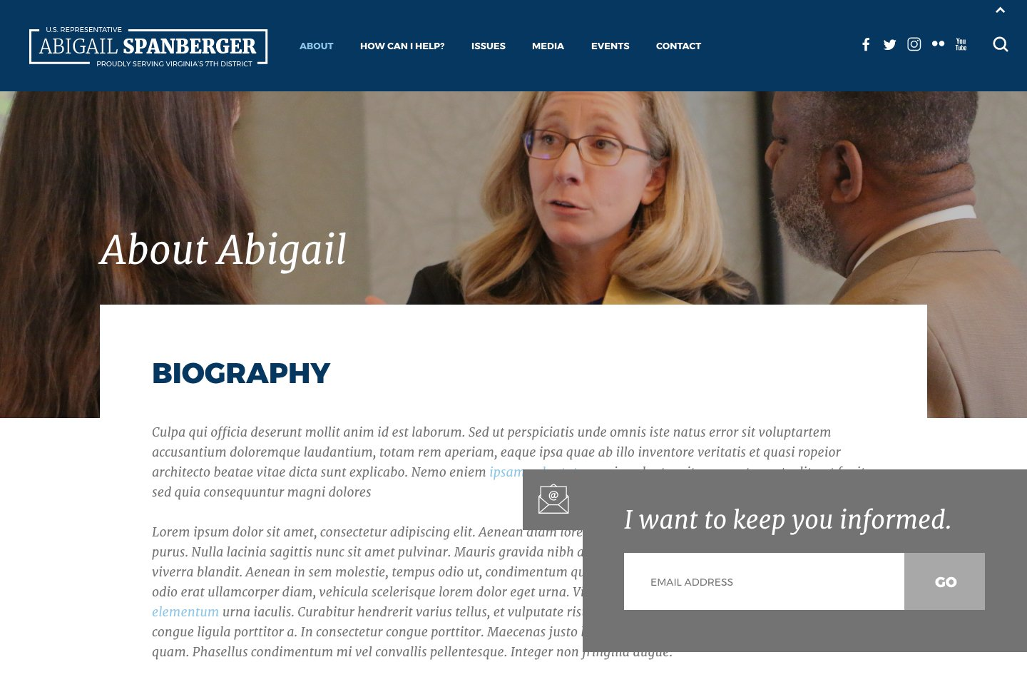 Rep. Abigail Spanberger<small>Subscription Slide Out</small>