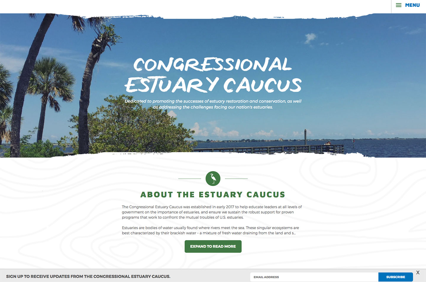 Congressional Estuary Caucus<small>Mission Statement</small>
