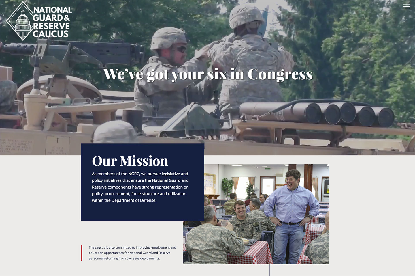 National Guard & Reserve Caucus<small>Mission Statement</small>