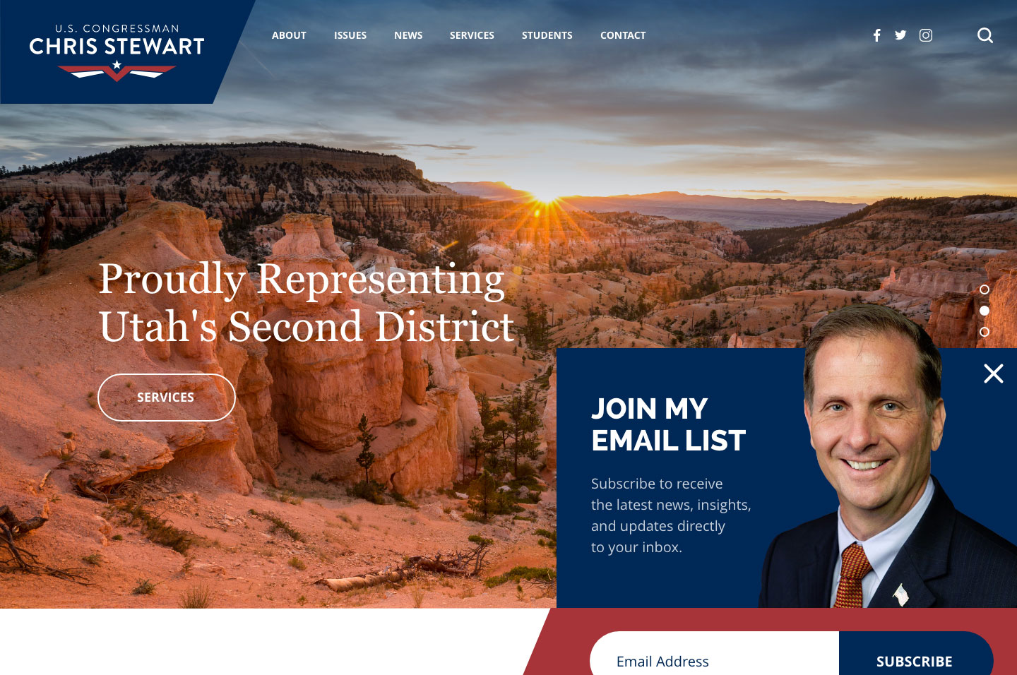 Rep. Chris Stewart<small>Subscription Popup</small>