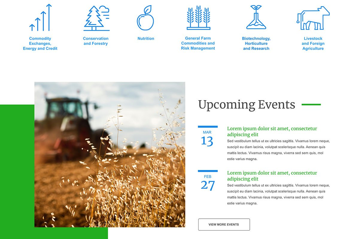 House Agriculture Committee<small>Custom Iconography & Event Calendar</small>