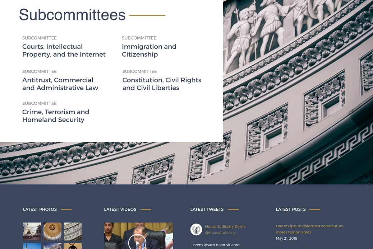 Judiciary Committee Subcommittees